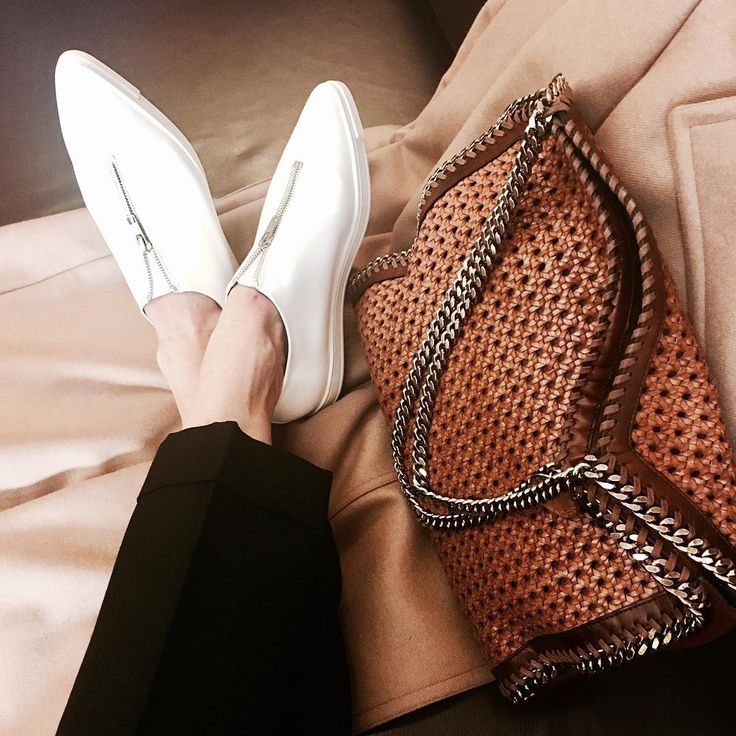 Lovin my new sneaks... classic camel and woven #Falabella... watch out Paris, here I come! x Stella