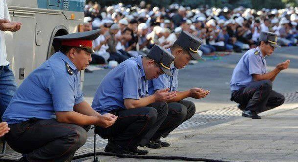 Eid al-Fitr Prayer in Kyrgyzstan (2012)