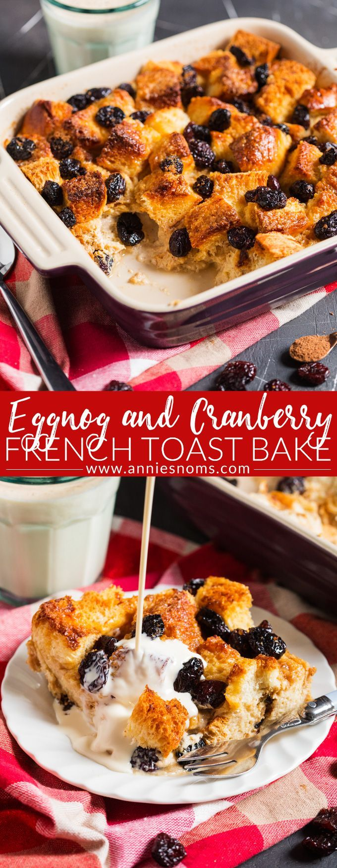This Eggnog and Cranberry French Toast Bake is the perfect festive brunch recipe; easy to prepare and utterly divine, you are bound to fall in love with it!