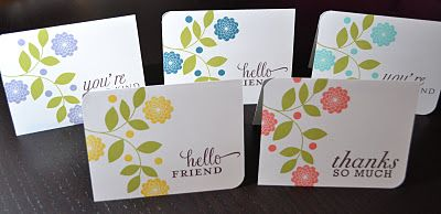 Supplies: Beautiful Blooms II (my go to set), Turning a New Leaf, Think Big all from PTI, Ink from SU-Lucky Limeaid, Wisteria Wonder, Calypso Coral, Indigo Island, Daffodil Delight, Chocolate Chip and PTI-Hawaiian Shore. Corner Chomper