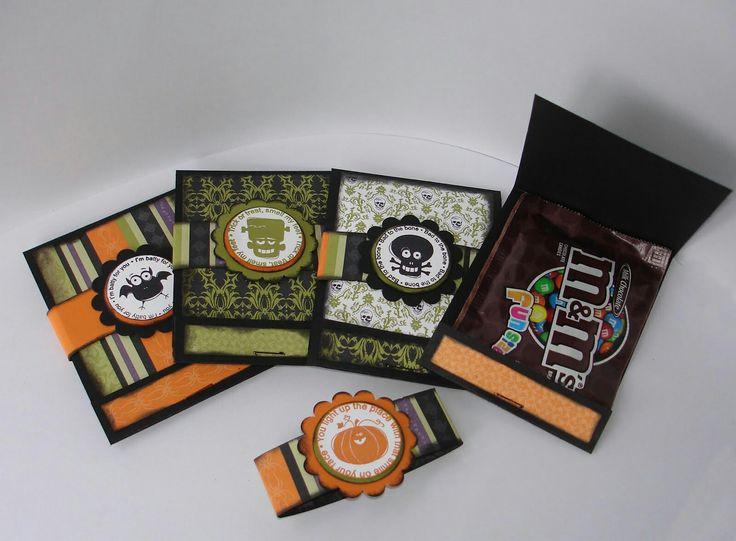 Halloween matchbox treat holders
