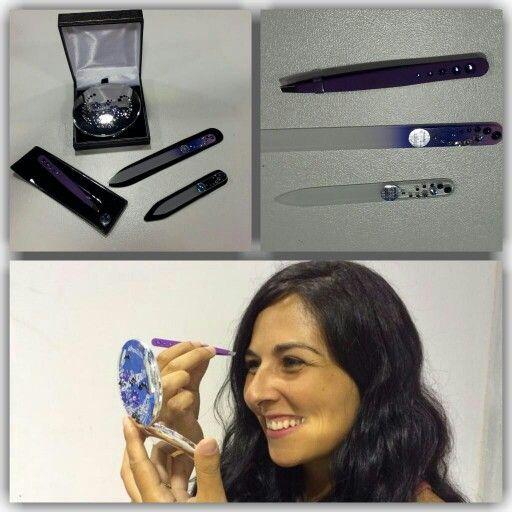 Limas de cristal,pinzas de depilar y espejo de Nuestra tienda online para el público en general es www.limasdeunas-regalos.es