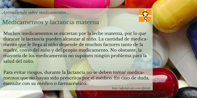 Medicamentos y lactancia materna