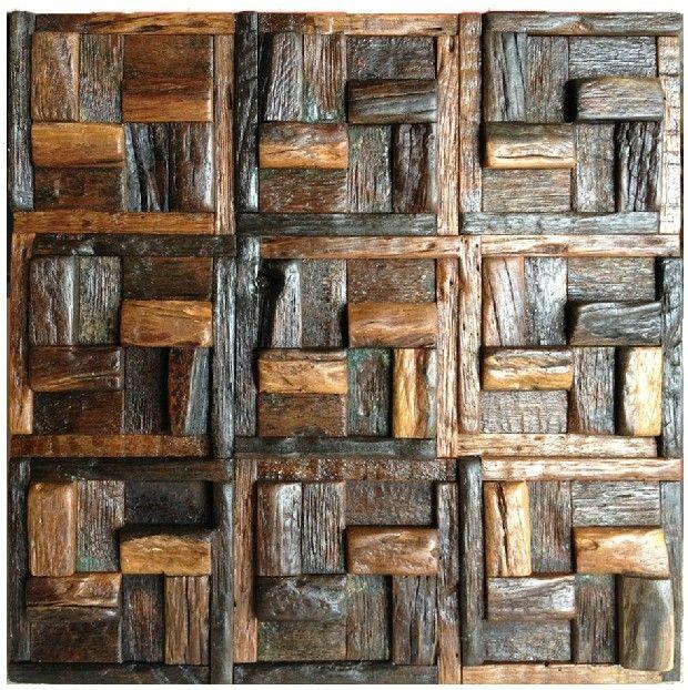 Natural wood mosaic tile rustic wood wall tiles NWMT008 kitchen backsplash wood panel 3D wood pattern mosaic Wholesale wood mosaic tile, wood art mosaic pattern,rustic wood wall tile,classic wood mosaic tile kitchen backsplash,3D mosaic tile,wood wall tile [NWMT008] - $33.05 : MyBuildingShop.com