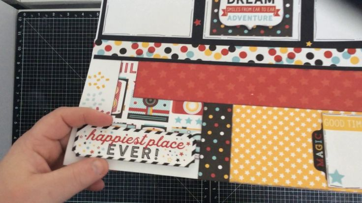 Two Page Layout Using Echo Park Magic and Wonder and My Favorite Things ...