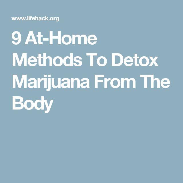 9 At-Home Methods To Detox Marijuana From The Body