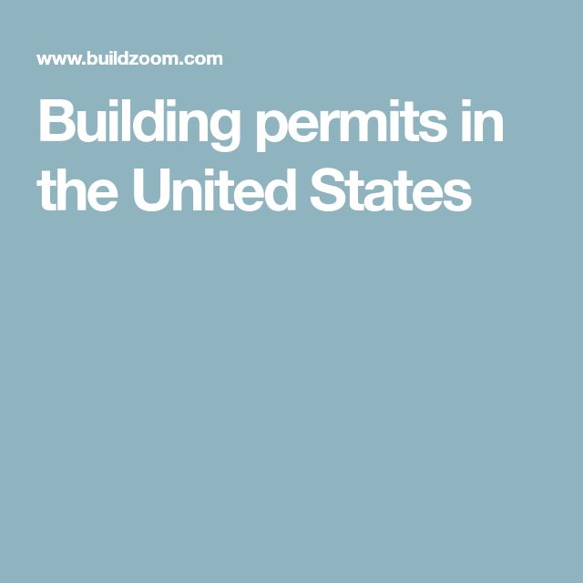 Building permits in the United States