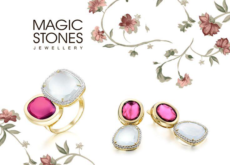 Роскошный золотой гарнитур с опалами и родолитами❤😍 MAGIC STONES выпускает эксклюзивные изделия с полудрагоценными камнями в необычных сочетаниях. Так, в представленном гарнитуре мы соединили красный и белый цвета для поистине элегантных представительниц прекрасного пола💃💄 Магия камней в ювелирных украшениях! арт 02-1-397-21 вес 13,88 гр. серьги арт 02-1-397-21 вес 8,12 гр.кольцо  #magic #rings #earrings #кольцо #серьги #опал