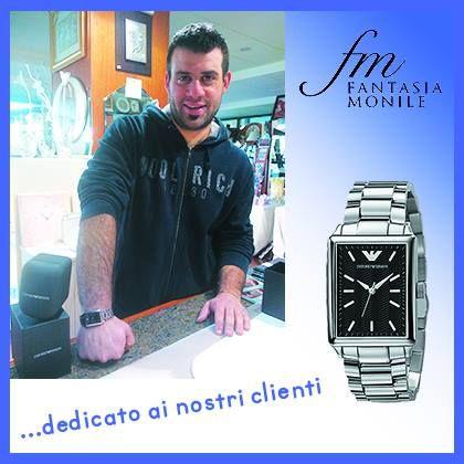 Michele con il suo orologio Emporio Armani