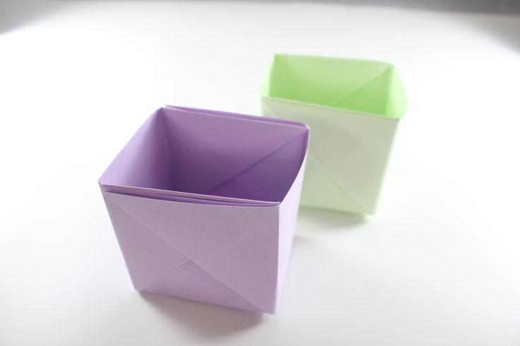 小物入れやゴミ箱など折り紙で作る箱は大活躍!!簡単に作れて、超便利!カワイイ小物入れから便利なゴミ入れまで!便利な箱をたくさん作ろう。