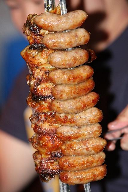 Brazilian bbq sausages mmm...