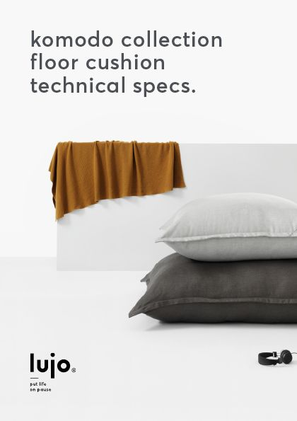 Experience the comfort of lounging on a Lujo oversized floor pillow. Get your extra large, fibre filled floor cushion and see what you've been missing