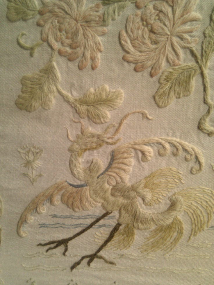 Detail of one of Lady Julia Carew's embroideries. More  http://thehurdlibrary.tumblr.com/post/19675555389/lady-julia-carew-in-the-hurd-library