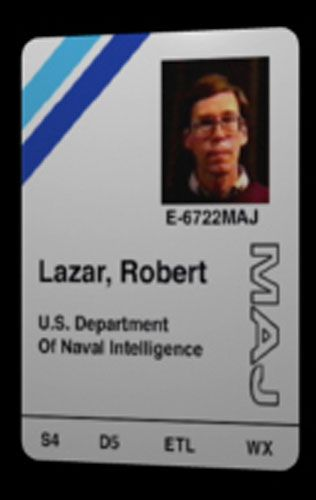 Bob Lazar's ID for the base where he did reverse energinering on UFOs, before being fired for bringing his friends to test flights.  Look him up, what he has to share is priceless galatic info, especially about the Grey's technology and element 115 (☆anti-gravity)