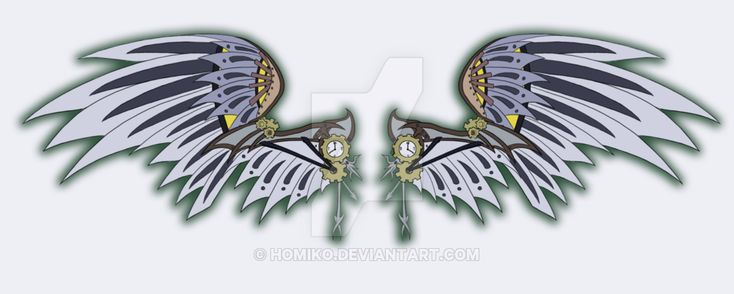 steampunk wings by Homiko