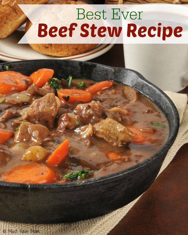 Homemade Beef Stew Recipe. Best beef stew recipe. Crockpot beef stew recipe. Great comfort food! Hearty meal perfect for dinner.