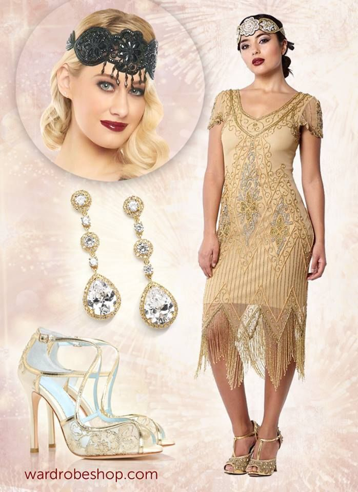 Great Gatsby Inspired Dresses and Accessories | Great Gatsby Inspired Look | 1920s Themed Party & Vintage Style Outfit | Roaring Twenties & Retro Look Dresses