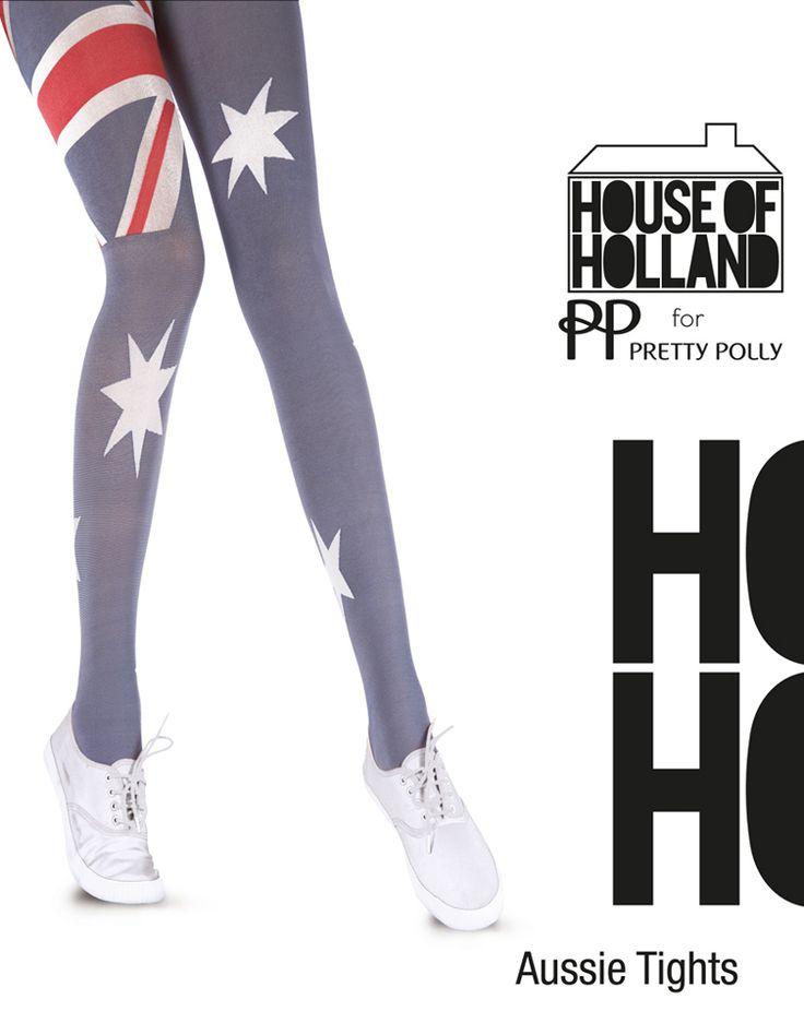 Australian Aussie Flag panty van House of Holland. Panty met de Australische vlag. Super mooie panty voor diverse gelegenheden. 40 denier. Met katoenen kruisje. Merk: Pretty Polly. Kleur: rood, wit, blauw. Maat: One size (36 t/m 42)