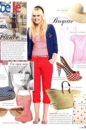 Esther Williams Swimwear - classic fifties badpak BB ruitjes rood wit