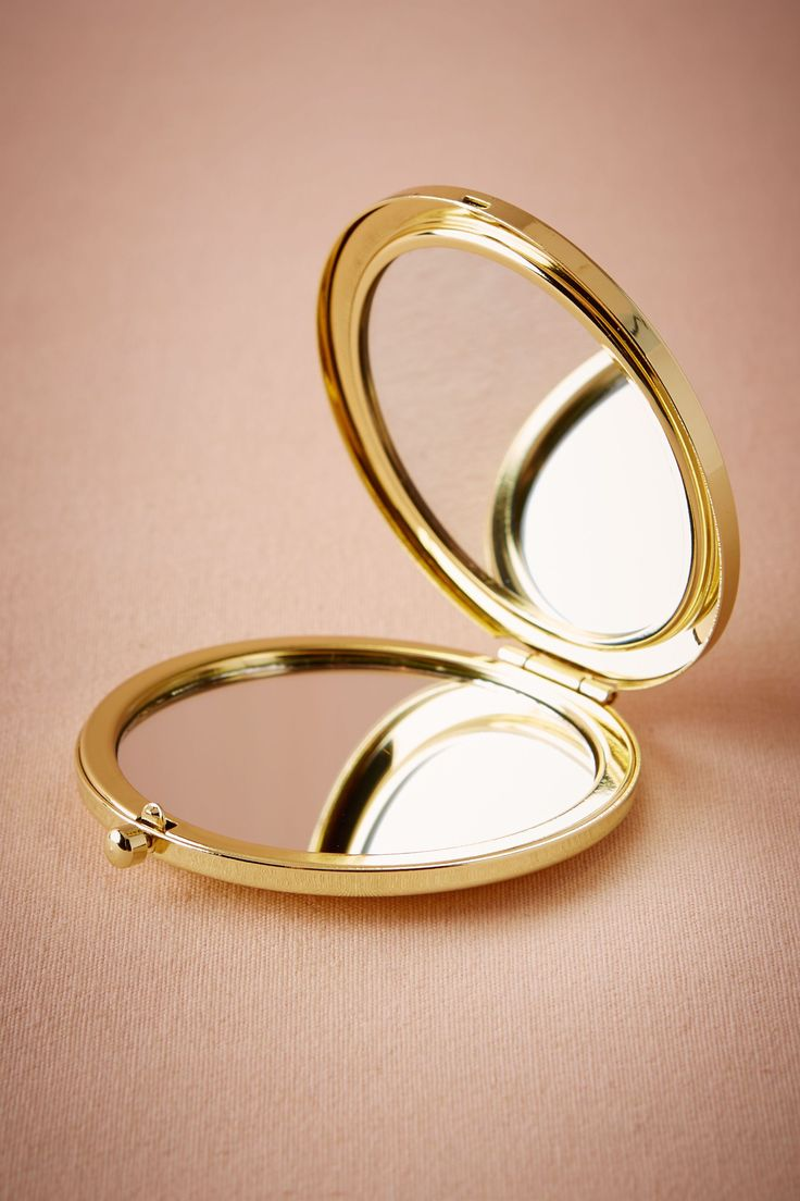BHLDN Gold Compact Mirror in Bridal Party Bridesmaid Gifts | BHLDN