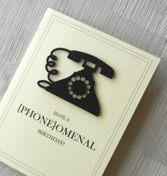 23 best cards telephone images on pinterest cards diy cards and birthday card funny birthday card handmade phone black 3d old m4hsunfo
