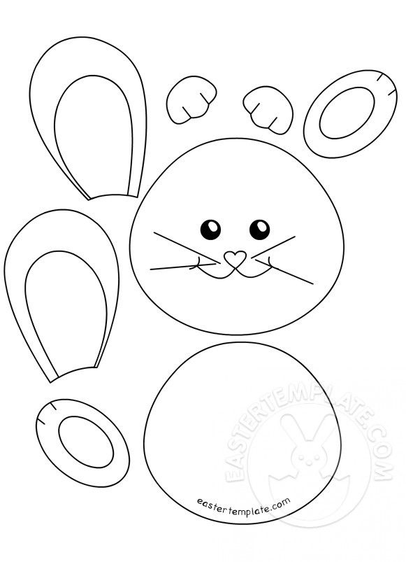 It is a graphic of Decisive Easter Bunny Print Out