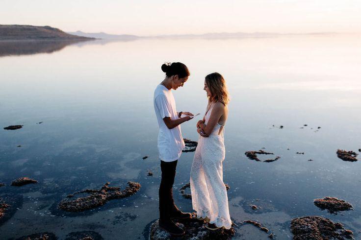 Antelope Island engagement photo inspiration | Image by Matt & Tish Photography