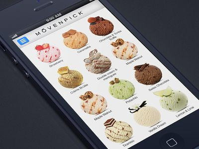 Movenpick ice-cream app