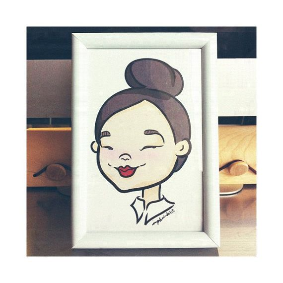 Cute Custom Portrait Illustration by imptwitch on Etsy. LOVE LOVE LOVE.