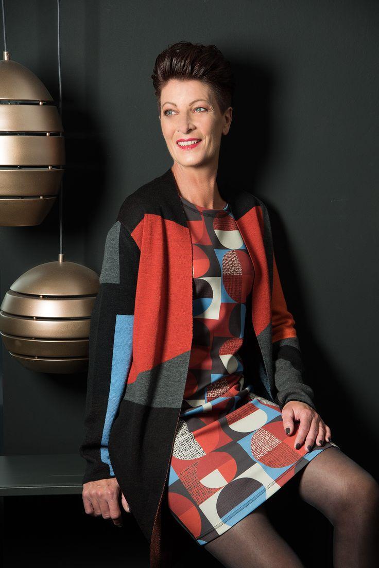 jurk met geometrische print