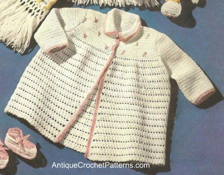 Crochet Baby Girl Cardigan Pattern Free : 78 fantastiche immagini su Crochet...Infant & Childrens ...