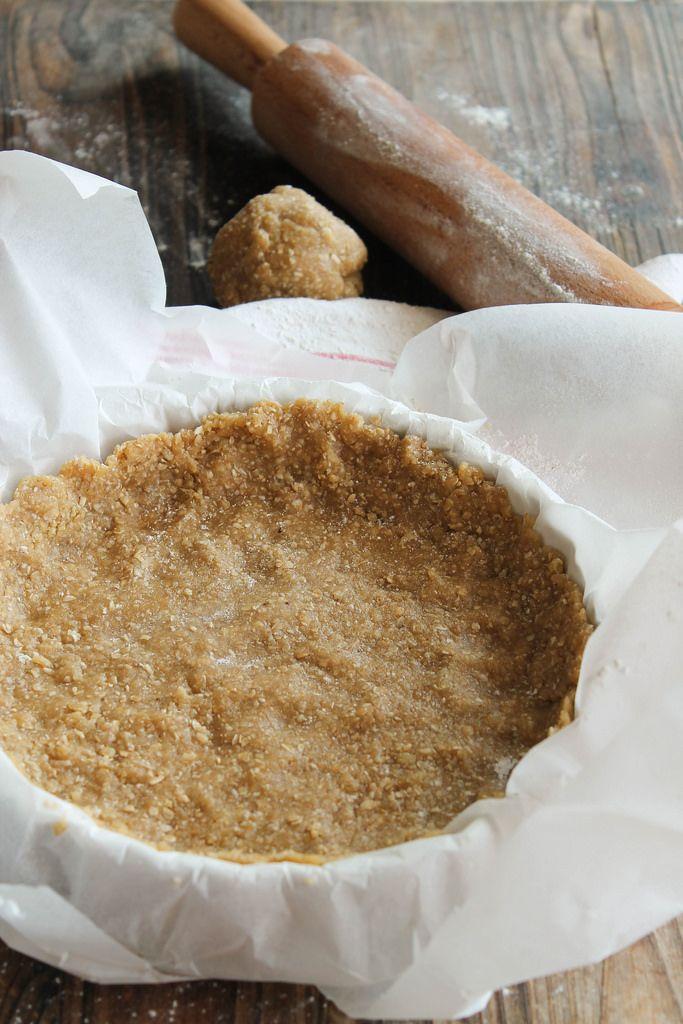 Pâte à tarte au son {vegan} (façon sucrée ou salée, sans margarine végé ni huile de coco) - aime & mange