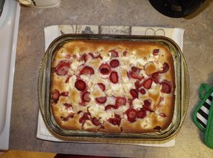 Strawberry & Cream Cheese Cobbler Recipe (this one is easier..self rising flour)