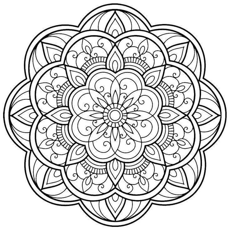 Mandala Coloring pages Blank adult coloring Mandala