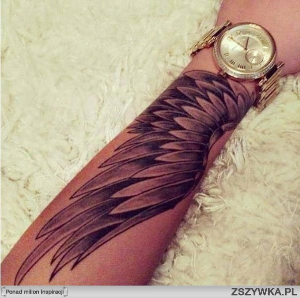 I think this is how I want it on my arm. A bit higher up, probably from around my elbow… and abstract angel wing or maybe not