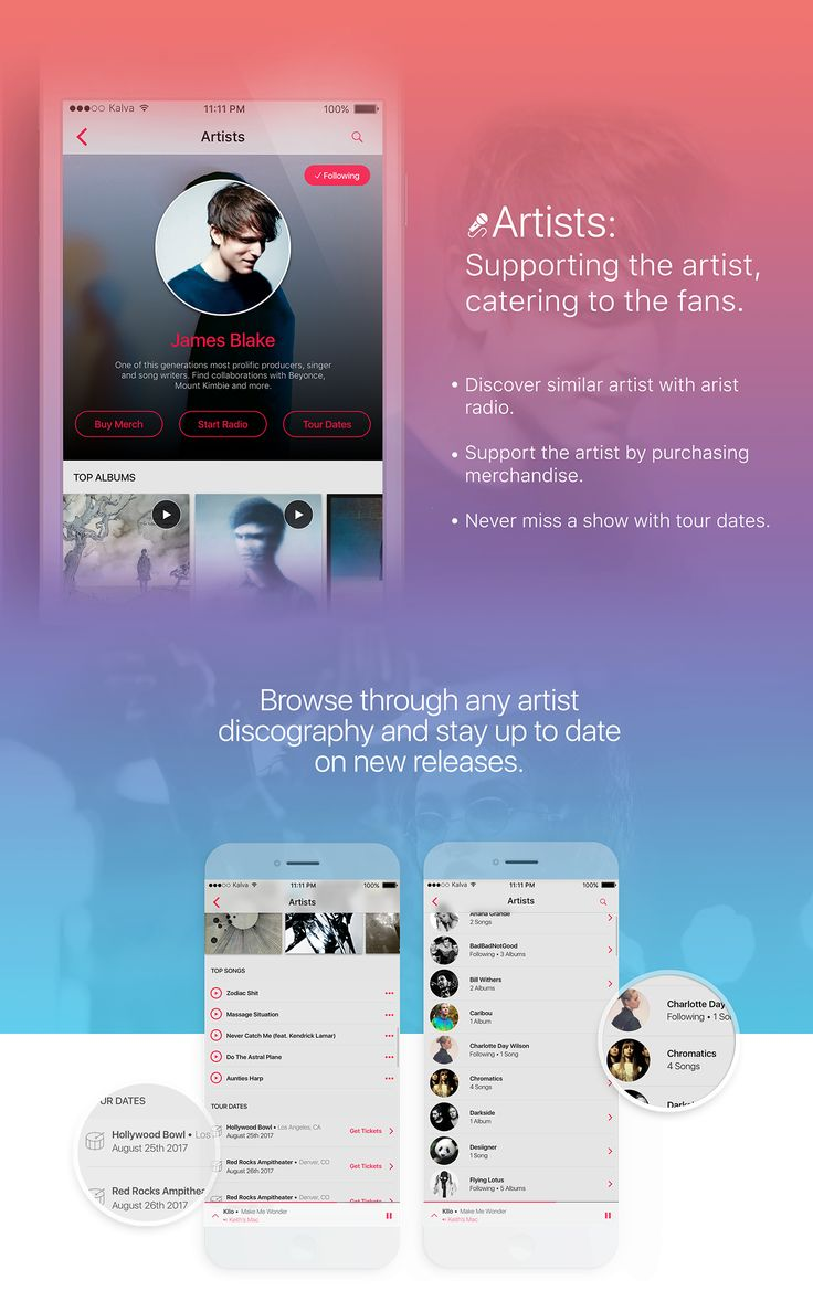 Apple Music iOS 10 on Behance