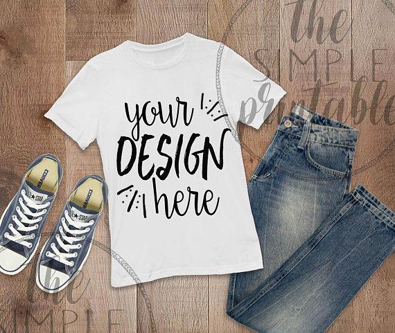 Download Free T Shirt Mockup Bella Canvas 3001 White Shirt On Wood Psd Free Psd Mockups Shirt Mockup Mockup Free Psd Clothing Mockup