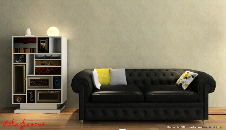 #intericad #bookcase #interiordesign   Lola Glamour 3D Concept
