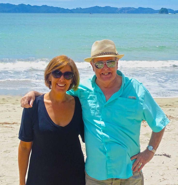Katy and me at Cooks Beach early 2015