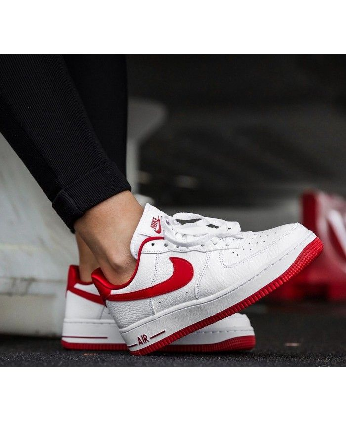 Nike Air Force 1 Trainers In Red White | Nike sneakers women ...