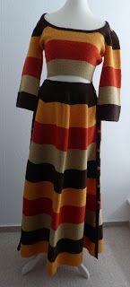 Strickkombination im Hippiestyle #Maxirock und Shirt - selfmade #Knitskirt #knitshirt