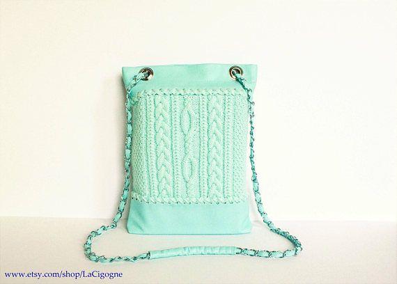 Crossbody bag Mint Handbag Knitted bag Tote bag Handmade bag #Crossbodybag #Mint #Handbag #Knittedbag #Totebag #Handmadebag