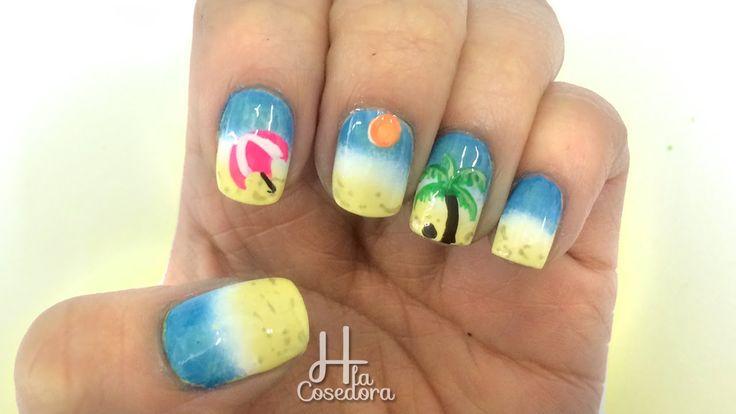 Decoración en las Uñas Playa ¡Comparte el video con todas tus amigas y no olvides suscribirte para más Nail Art es GRATIS! http://www.youtube.com/subscription_center?add_user=hlacosedora1