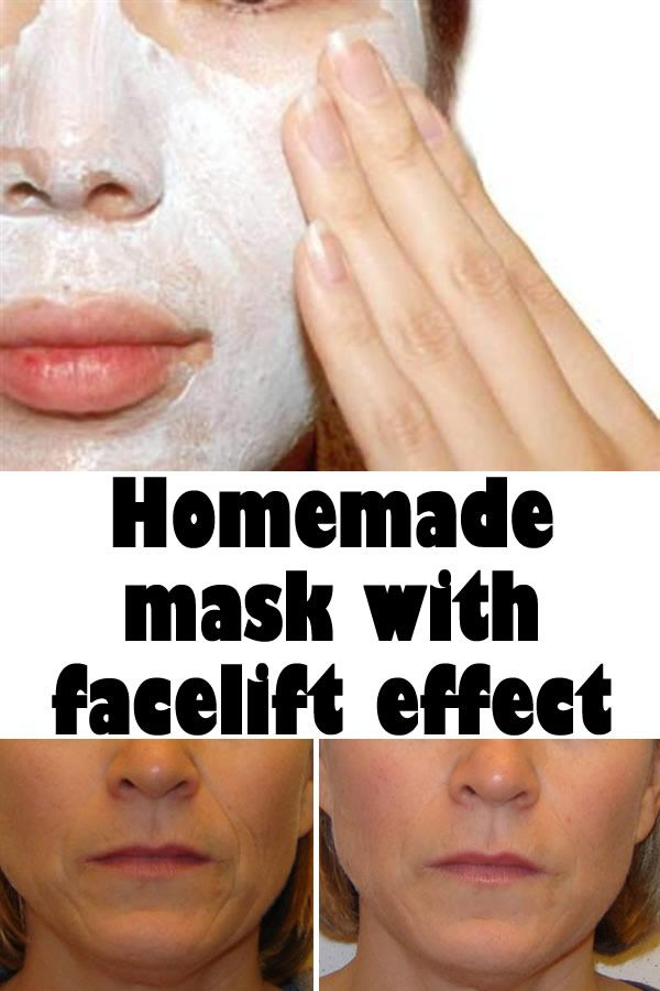 Homemade mask with facelift effect