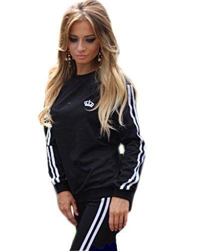 d1314e55 Akery Womens Sports Pullover Hoodie Tracksuit Sweat Pants Set 2 Pcs # tracksuit