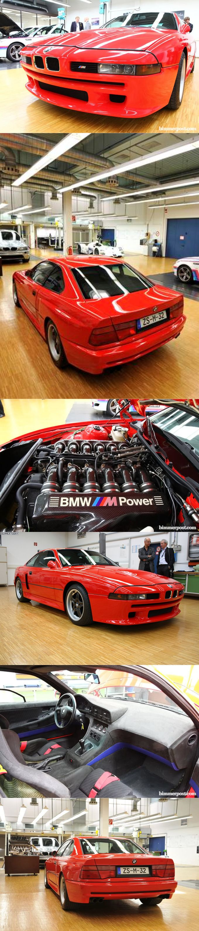 1990 BMW M8 / 550hp V12 / 1 prototype / red / Germany / 17-315