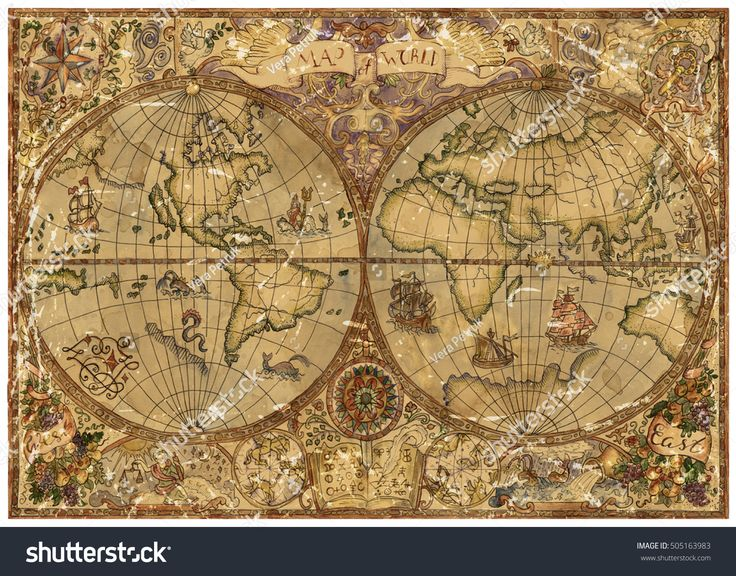 Antique World Map by Print a Wallpaper Gold Theme Wallpaper for - copy world map wallpaper for mobile