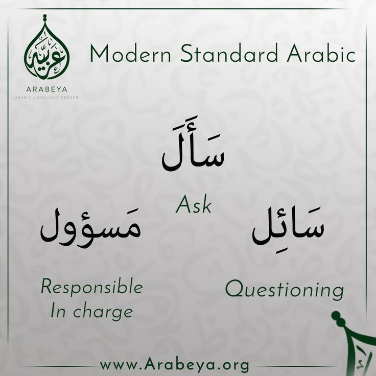 """The participles of the verb """"سأل"""" ask"""