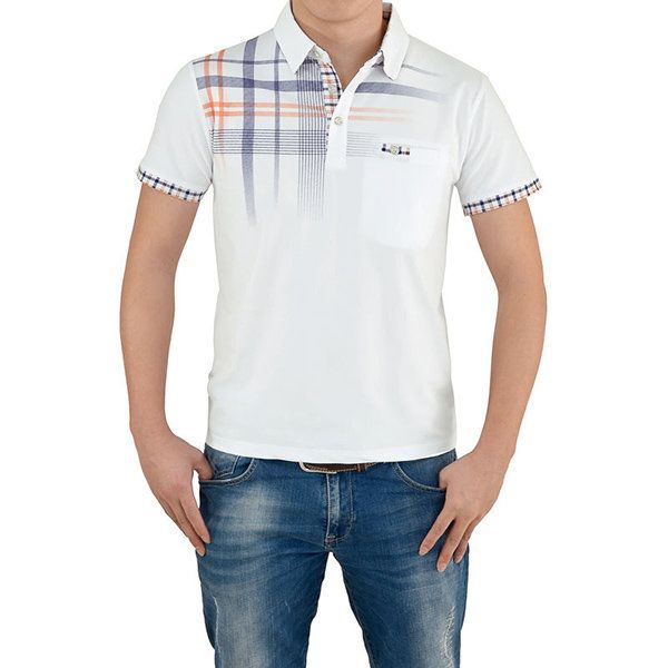 Mens Printed Front Pocket Polo Shirt Short Sleeve Spring Summer Casual Tops US$19.91 US$ 37.56 (47%OFF) SHIPPING WORLDWIDE GO TO STORE  https://www.newchic.com/polo-4982/p-1136847.html?p=7N04254894170201705E
