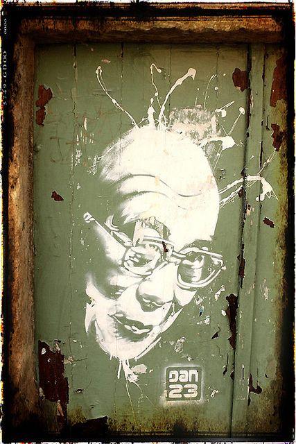 Street Art - Dalaï Lama by DAN23